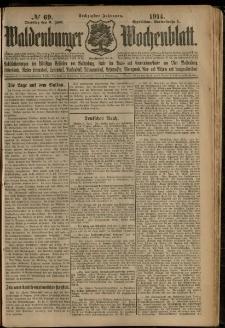 Waldenburger Wochenblatt, Jg. 60, 1914, nr 69