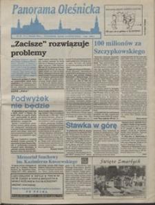 Panorama Oleśnicka: tygodnik Ziemi Oleśnickiej, 1992, nr 70