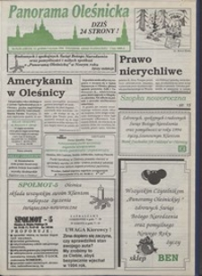 Panorama Oleśnicka: tygodnik Ziemi Oleśnickiej, 1993, nr 51/52