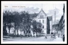 Ohlau - Schlossplatz mit Gimnasium [Dokument ikonograficzny]