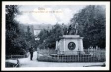 Ohlau - Anlagen und Kriegerdenkmal auf dem Schlossplatz [Dokument ikonograficzny]