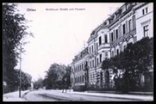 Ohlau - Grottkauer Strasse und Postamt [Dokument ikonograficzny]