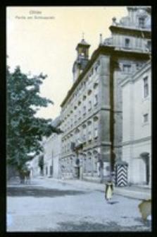 Ohlau - Partie am Schlossplatz [Dokument ikonograficzny]