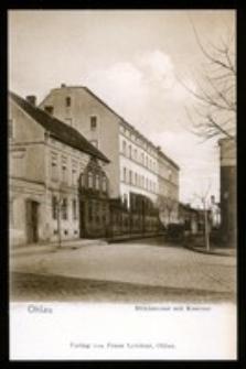 Ohlau - Mühlstrasse mit Kaserne [Dokument ikonograficzny]