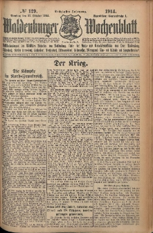Waldenburger Wochenblatt, Jg. 60, 1914, nr 129