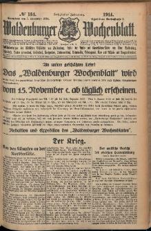 Waldenburger Wochenblatt, Jg. 60, 1914, nr 134