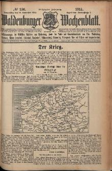 Waldenburger Wochenblatt, Jg. 60, 1914, nr 136