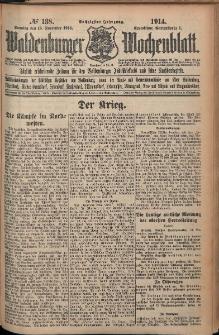 Waldenburger Wochenblatt, Jg. 60, 1914, nr 138