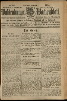 Waldenburger Wochenblatt, Jg. 60, 1914, nr 142