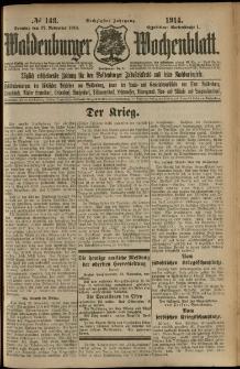 Waldenburger Wochenblatt, Jg. 60, 1914, nr 143