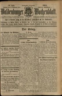 Waldenburger Wochenblatt, Jg. 60, 1914, nr 144