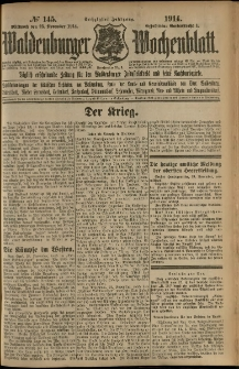 Waldenburger Wochenblatt, Jg. 60, 1914, nr 145