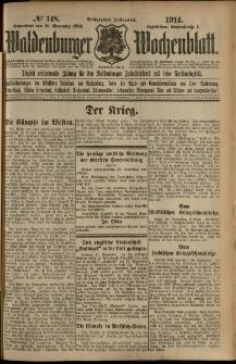 Waldenburger Wochenblatt, Jg. 60, 1914, nr 148