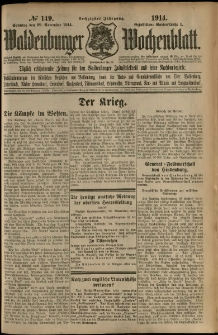 Waldenburger Wochenblatt, Jg. 60, 1914, nr 149