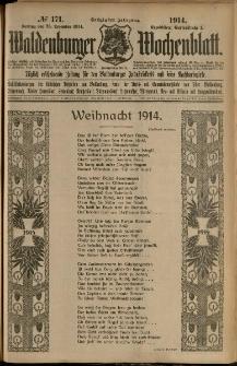 Waldenburger Wochenblatt, Jg. 60, 1914, nr 171