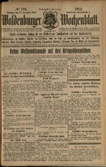 Waldenburger Wochenblatt, Jg. 60, 1914, nr 172