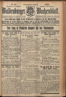 Waldenburger Wochenblatt, Jg. 61, 1915, nr 45