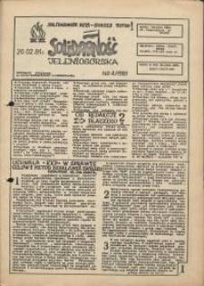 Solidarność Jeleniogórska : informacje związkowe : 20.02.1981 r., nr 4