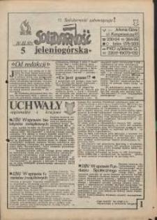 Solidarność Jeleniogórska : 10.03.1981 r., nr 5