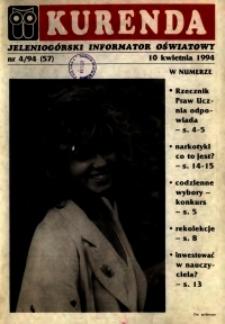 Kurenda : jeleniogórski informator oświatowy, 1994, nr 4 (57)