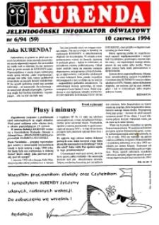 Kurenda : jeleniogórski informator oświatowy, 1994, nr 6 (59)