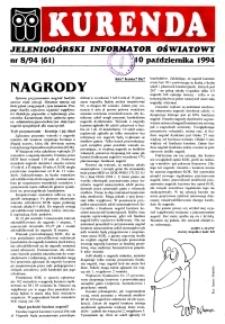 Kurenda : jeleniogórski informator oświatowy, 1994, nr 8 (61)