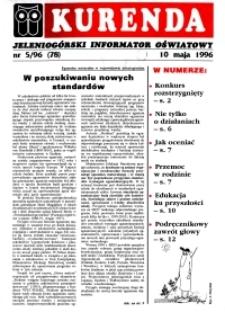 Kurenda : jeleniogórski informator oświatowy, 1996, nr 5 (78)