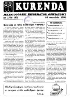 Kurenda : jeleniogórski informator oświatowy, 1996, nr 7 (80)