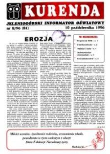 Kurenda : jeleniogórski informator oświatowy, 1996, nr 8 (81)