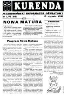 Kurenda : jeleniogórski informator oświatowy, 1997, nr 1 (84)