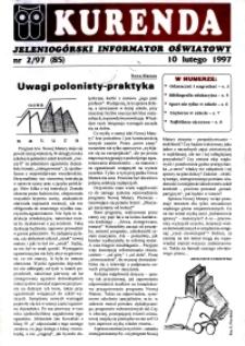 Kurenda : jeleniogórski informator oświatowy, 1997, nr 2 (85)