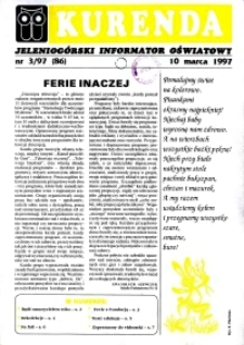 Kurenda : jeleniogórski informator oświatowy, 1997, nr 3 (86)