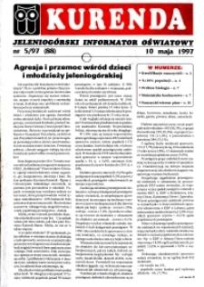 Kurenda : jeleniogórski informator oświatowy, 1997, nr 5 (88)