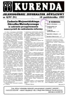 Kurenda : jeleniogórski informator oświatowy, 1997, nr 8 (91)