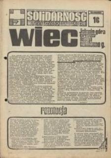 Solidarność Jeleniogórska : tygodnik Zarządu Regionalnego NSZZ Solidarność Region Jeleniogórski : 10.08.1981 r., nr 16