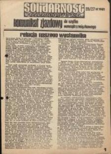 Solidarność Jeleniogórska : komunikat zjazdowy : 26/27.09.1981 r.