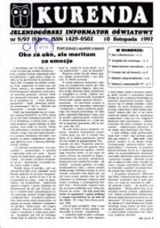 Kurenda : jeleniogórski informator oświatowy, 1997, nr 9 (92)
