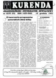 Kurenda : jeleniogórski informator oświatowy, 1997, nr 10 (93)