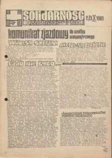 Solidarność Jeleniogórska : komunikat zjazdowy : 2/3.10.1981 r.