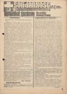 Solidarność Jeleniogórska : komunikat zjazdowy : 3/4.10.1981 r.