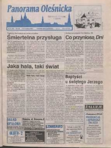Panorama Oleśnicka: tygodnik Ziemi Oleśnickiej, 1998, nr 15