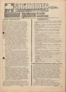 Solidarność Jeleniogórska : komunikat zjazdowy : 4/5.10.1981 r.