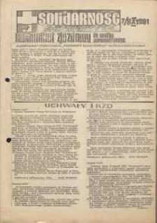 Solidarność Jeleniogórska : komunikat zjazdowy : 7/8.10.1981 r.