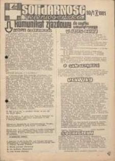 Solidarność Jeleniogórska : komunikat zjazdowy : 30.10.1981 r.