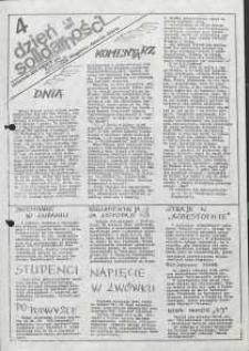 Dzień Solidarności : dziennik ZR NSZZ Solidarność Regionu Jelenia Góra, 1.12.1981, nr 4