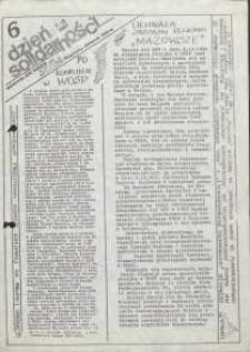 Dzień Solidarności : dziennik ZR NSZZ Solidarność Regionu Jelenia Góra, 3.12.1981, nr 6