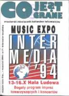 Co Jest Grane : wrocławski miesięcznik kulturalno-informacyjny, 1994, nr 7