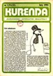Kurenda : jeleniogórski informator oświatowy, 1991, nr 1 (25)