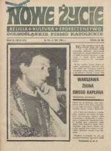 Nowe Życie :dolnośląskie pismo katolickie : religia, kultura, społeczeństwo, 1984, nr 21 (35)