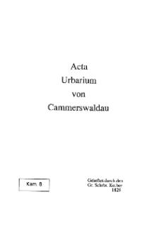 Acta Urbarium von Cammerswaldau [Dokument elektroniczny]